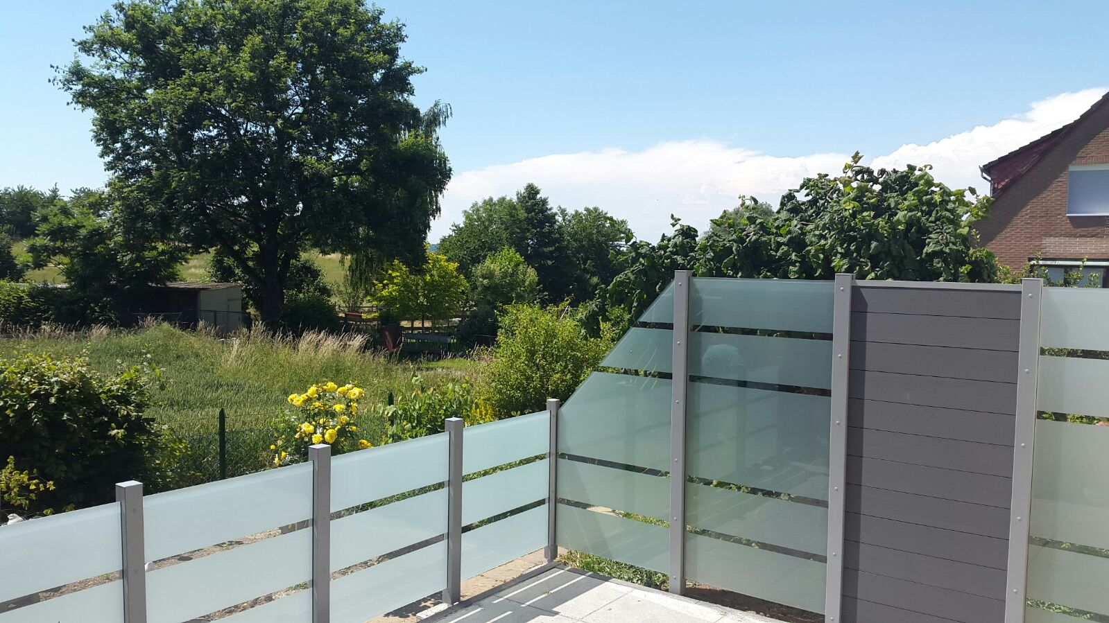 Glas Sichtschutz